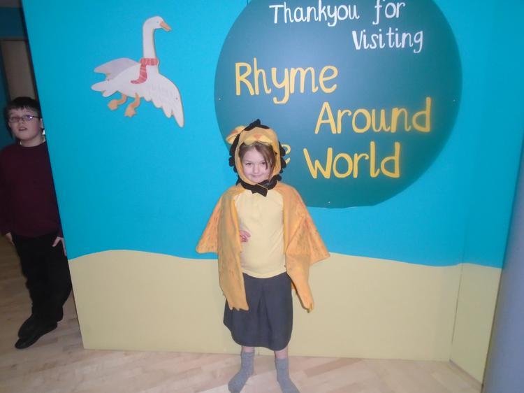 Kayla dressed up as a lion!