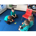 Practising our number bonds with a game