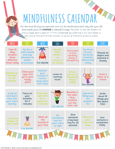 Mindfulness activities can really help children who are anxious about change
