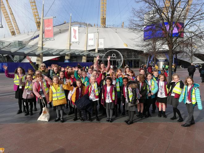 Choir getting very excited at the O2 Arena in London for Young Voices
