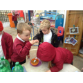 Making and eating vegetable soup