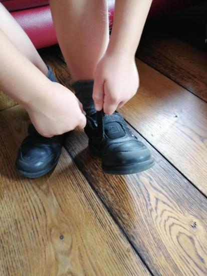 Make sure they can fasten them by themselves.  THIS INCLUDES TYING LACES!