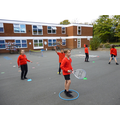 Ball control and positioning in Tennis for Year 5