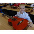 Excited faces in Year 4 to begin to learn the guitar...