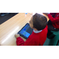 Using the iPads to code in Computing...