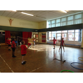 Applying our skills to a competitive Level 1 match in Badminton