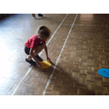 Taking part in Active Maths based on Place Value.