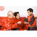 Children will get red packets from family