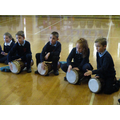 Year 3 have a go at African Drumming
