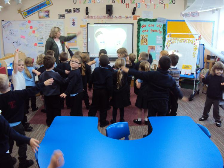 Reception Class doing the Counting Backwards song!