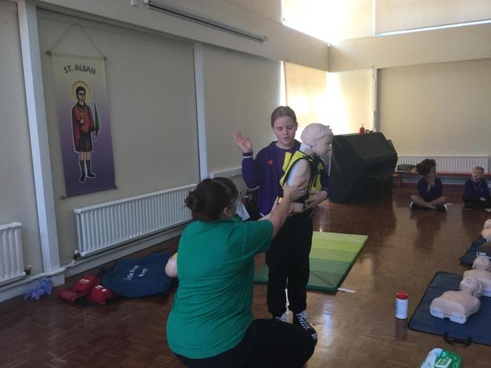 Year 6 learnt what to do if someone was choking/