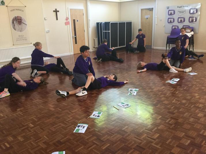 Year 6 learnt how to put someone in the recovery position