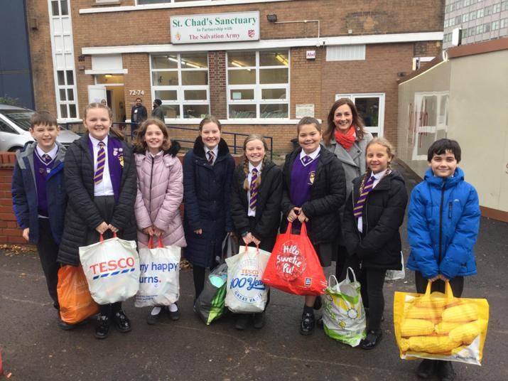 We delivered 94 bags of toiletries to St Chad's!
