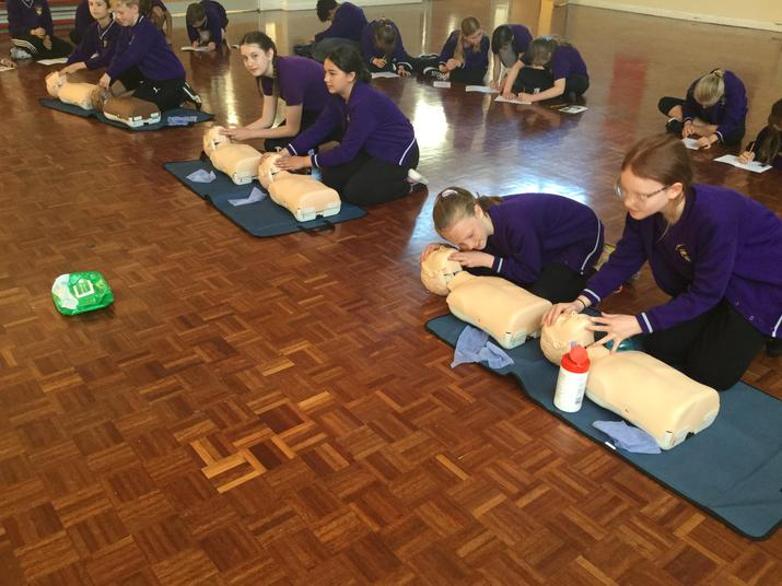 Year 6 learnt about to administer CPR