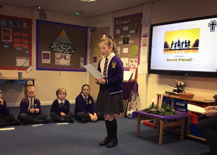 Y5 planned and delivered their own prayer service.