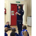 Beth Tweddle an Olympic gymnast came to visit