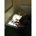 Exploring 2D shapes on the lightbox