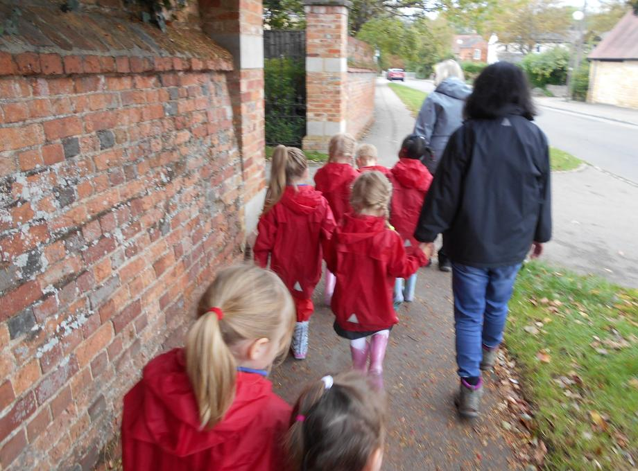 We got ready and set off from school.