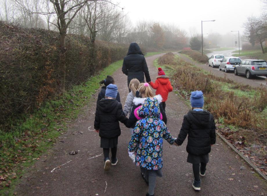 We set off on a walk.