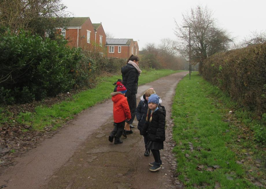 Then we walked back to school.