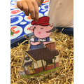 Retelling story of 3 little pigs