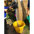 water pump in action