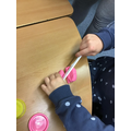Cutting play dough