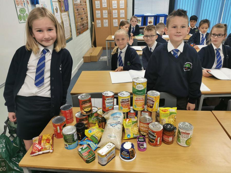 Here are some of the donations from the children!