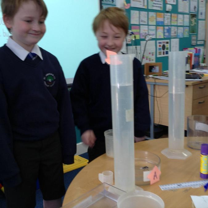 Learning about capacity in Maths.