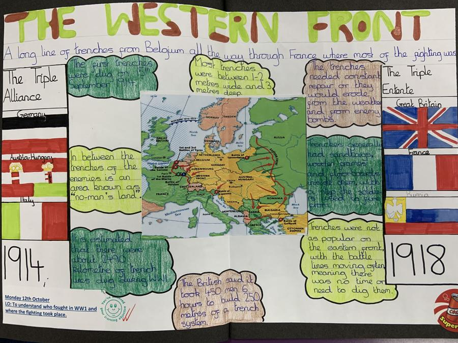 We looked at where the fighting took place and which countries were on which side.