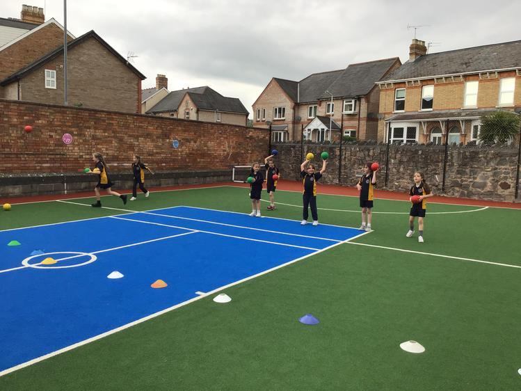 Year 2 enjoyed a game of Dodgeball at after- school club