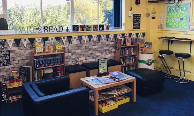 Our coffee shop themed reading area
