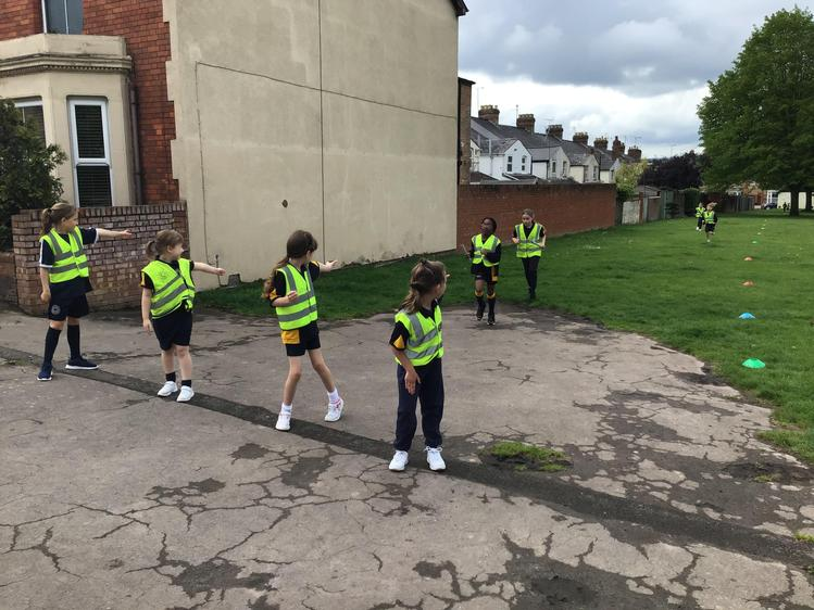 Year 2 learnt about passing the baton
