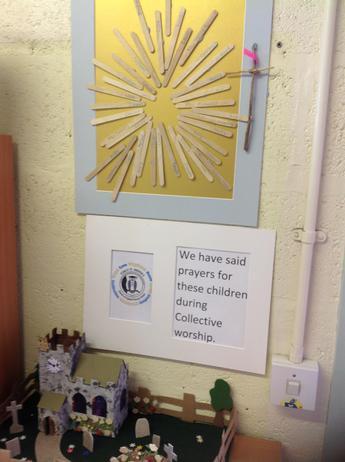 Prayer sticks for our school commuity