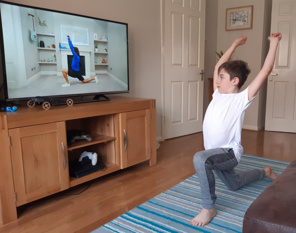 Exercise lesson with Joe Wicks.