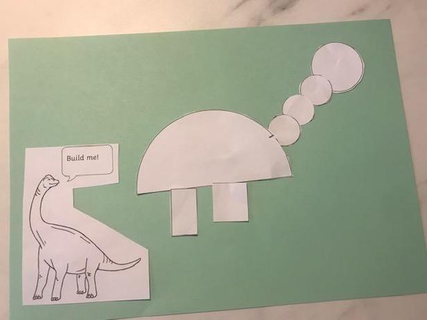 Dinosaur using shapes