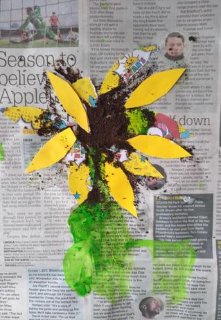 The Finished Sunflower.