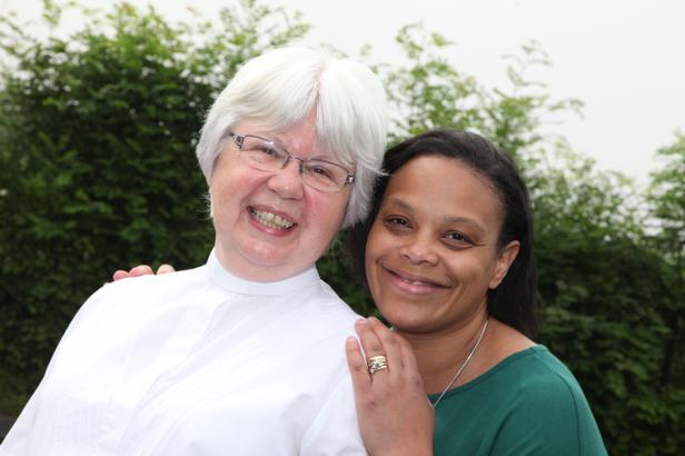 Rev Ingrid Owen-Jones and Mrs Stanley-Wainwright