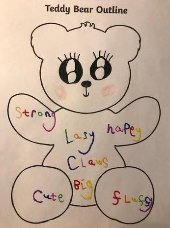 Teddy Bear Outline.