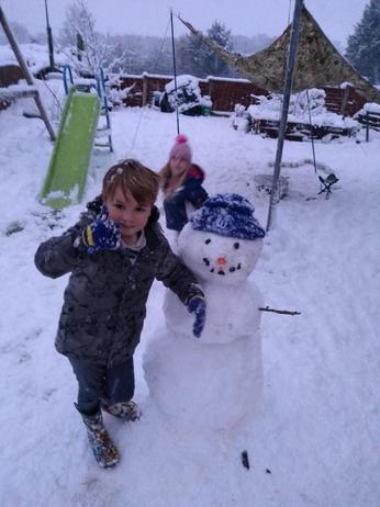An amazing snowman.