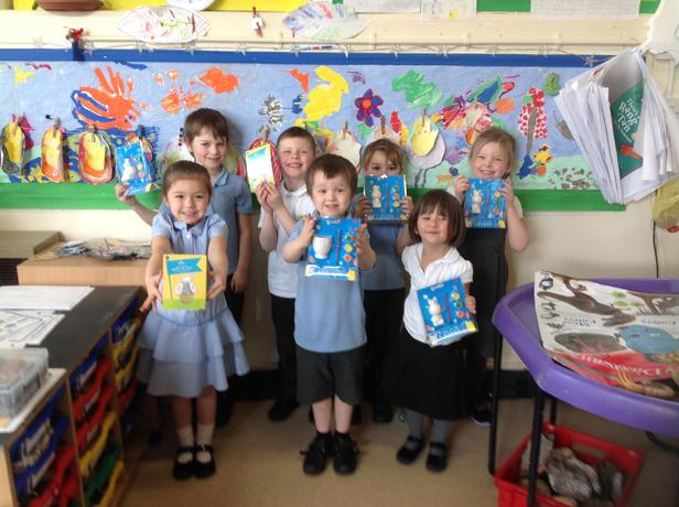 Robin class winners of the Easter competition. Well done!