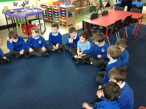 Circle time exploring emotions