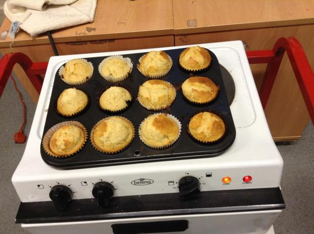 We can make delicious muffins.