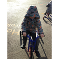 Tricycle riding for our gross motor skills