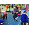 Making a spider web