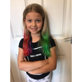 Abigail's funky hair!
