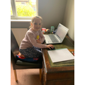 Charlotte working hard - welcome to 2CR!