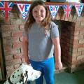 Tess enjoying VE day celebrations