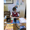 Mason ( Ely Class) having remote learning on zoom