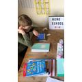 Mason (Salisbury Class) taking part in times table rock stars on the iPad